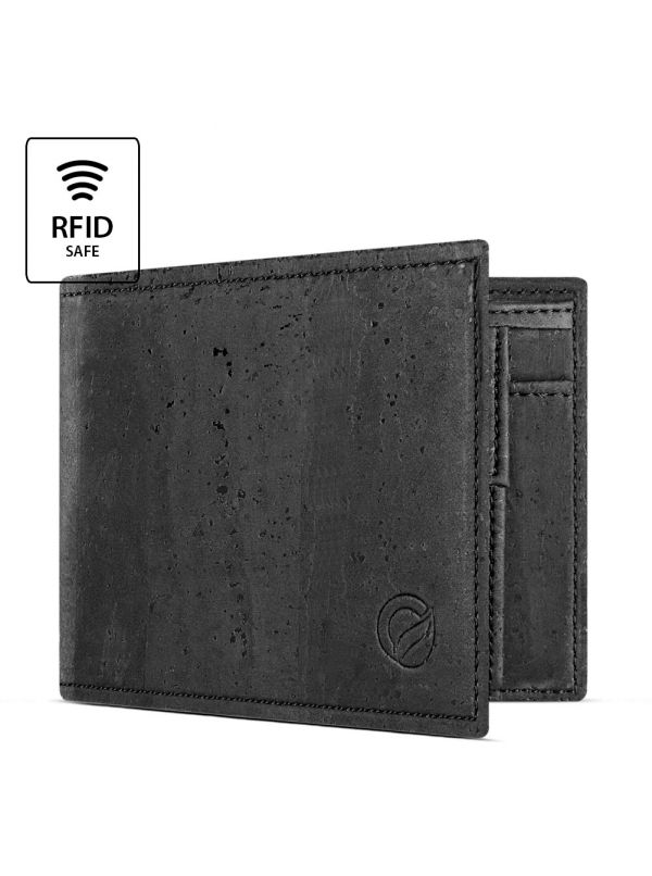 Corkor CK243C Dark Brown wallet with coin pocket inside