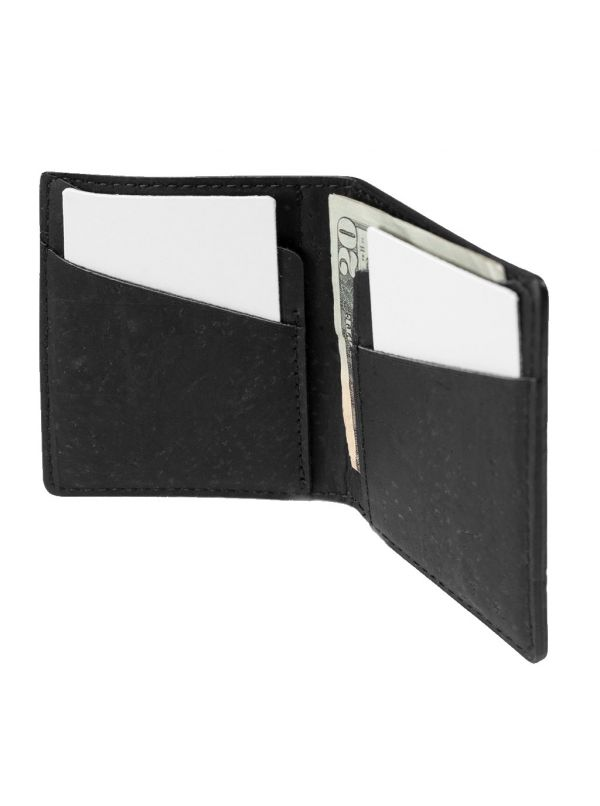 Corkor CK262P Slim Cork Coin Wallet with coin pocket inside