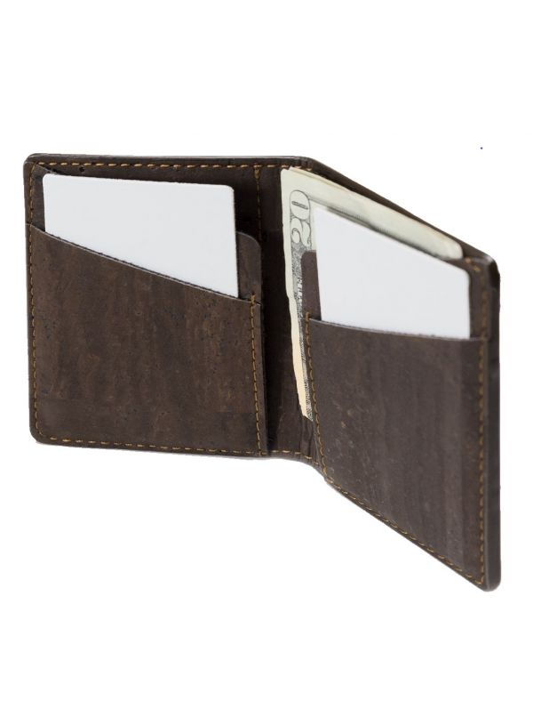 Corkor CK262C Slim Cork Coin Wallet with coin pocket inside